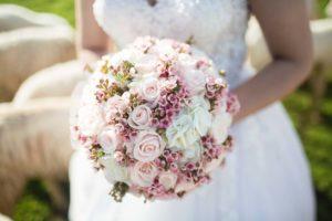 Brudbukett blommor bröllop