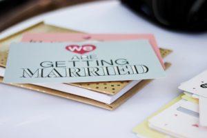 Inbjudan till bröllop